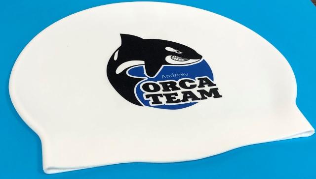 Шапочка для плавания с логотипом