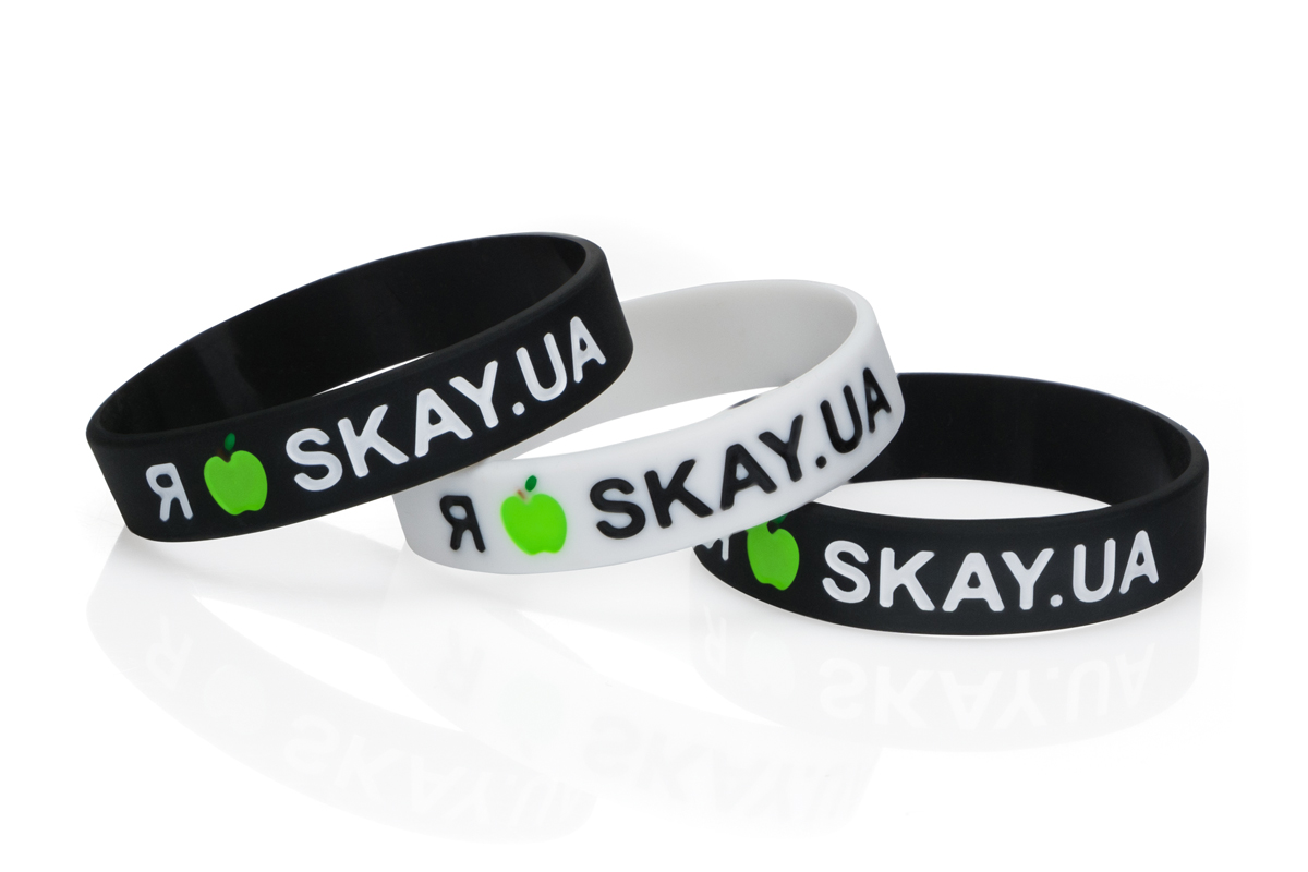 Debossed logo silicon bracelets