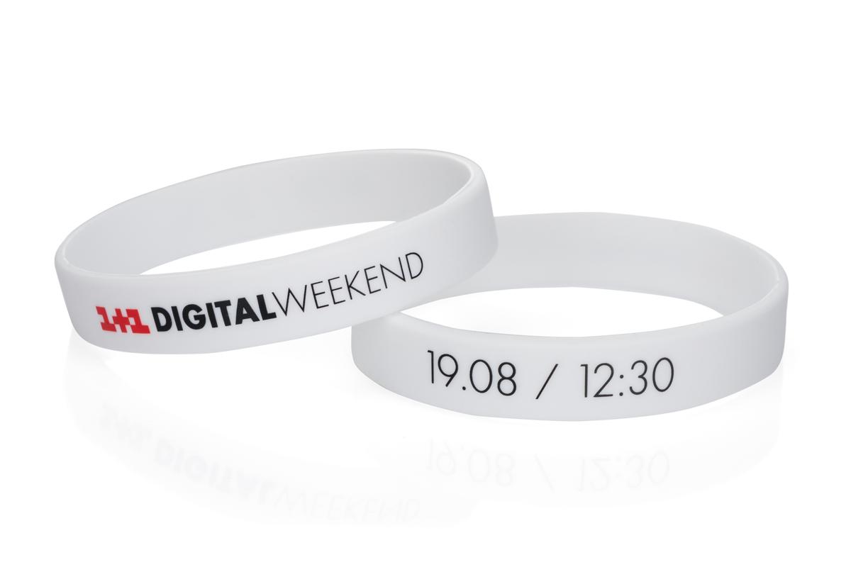 Силиконовый браслет 1+1 Digital weekend