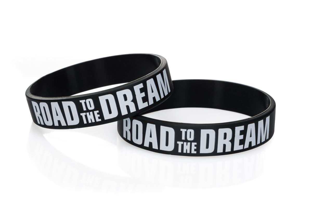 Силиконовый браслет Road to the Dream